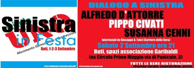 Sinistra in Festa Civati D'Attorre Cenni Festa 123 Sett. SITO