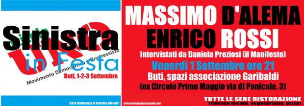 Sinistra in Festa D'Alema Rossi Festa 123 Sett. SITO