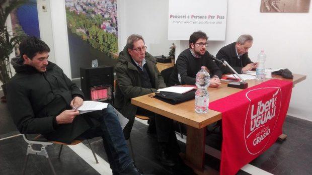Foto disarmo nucleare con Fratoianni e Fontanelli