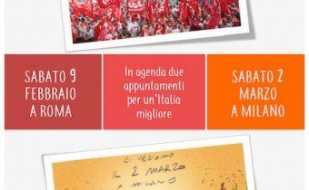 9 feb Roma 2 marzo Milano