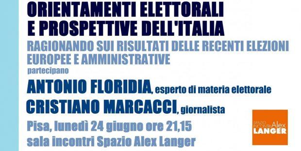 ORIENTAMENTI ELETTORALI Floridia Marcacci 24 giug FB