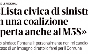 Intervista Fontanelli Il Tirreno Regionali Toscana 2020