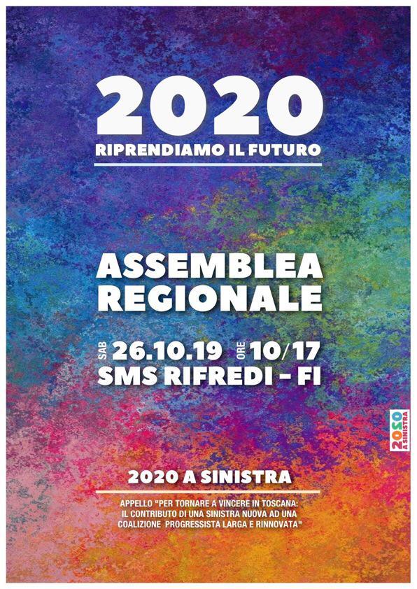 Toscana2020 ass regionale Sinistra