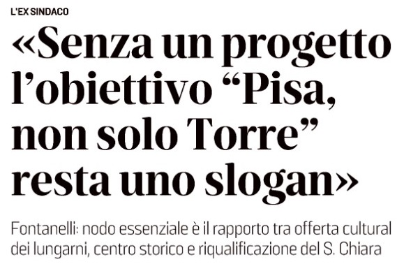 Intervista Fontanelli Il Tirreno 19 02 20