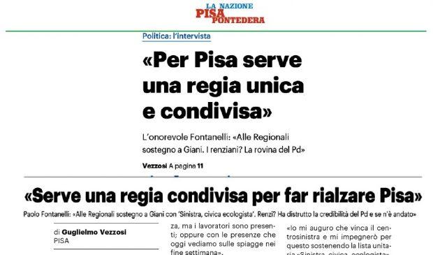 Intervista Fontanelli La Nazione Pisa Rit