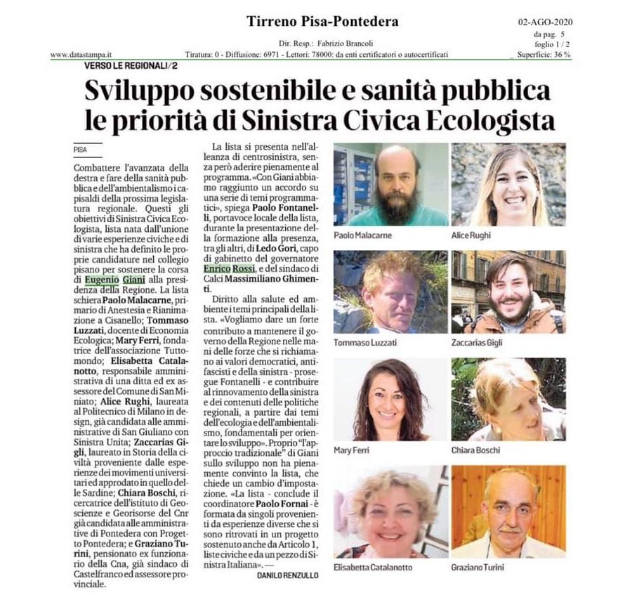 Articolo Toscana ecologista