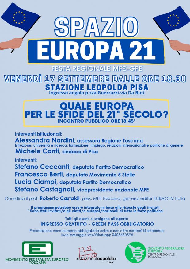 QUALE EUROPA PER LE SFIDE DEL 21° SECOLO - Nardini Conti Ceccanti Berti Ciampi Castagnoli